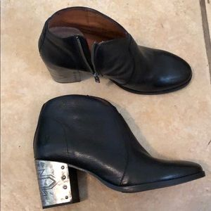 Fairly new Frye leather black ankle boots